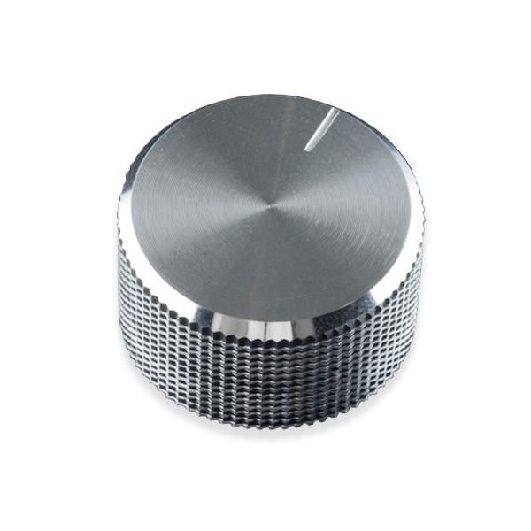 Ezüst színű potméter gomb 14x24mm POT-KNOB SILVER 14X24