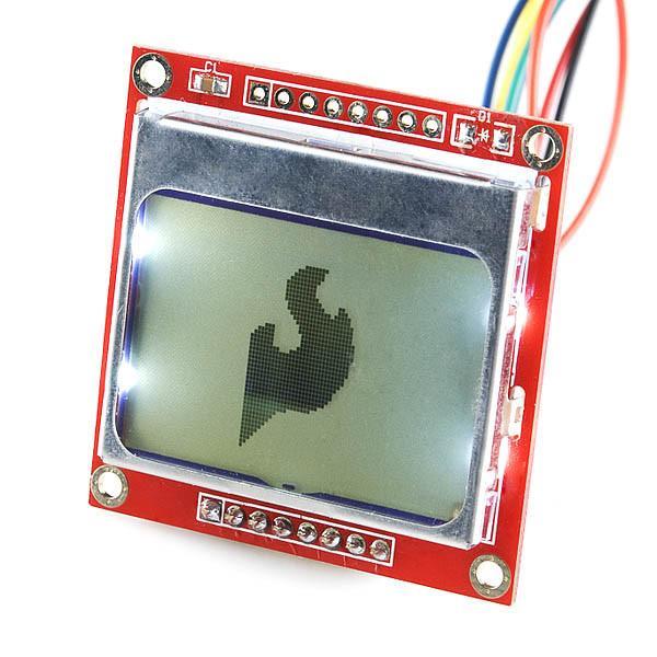 Grafikus LCD kijelző Nokia 5110 próbapanelen vezetékkel LCD 84X48 NOKIA 5110