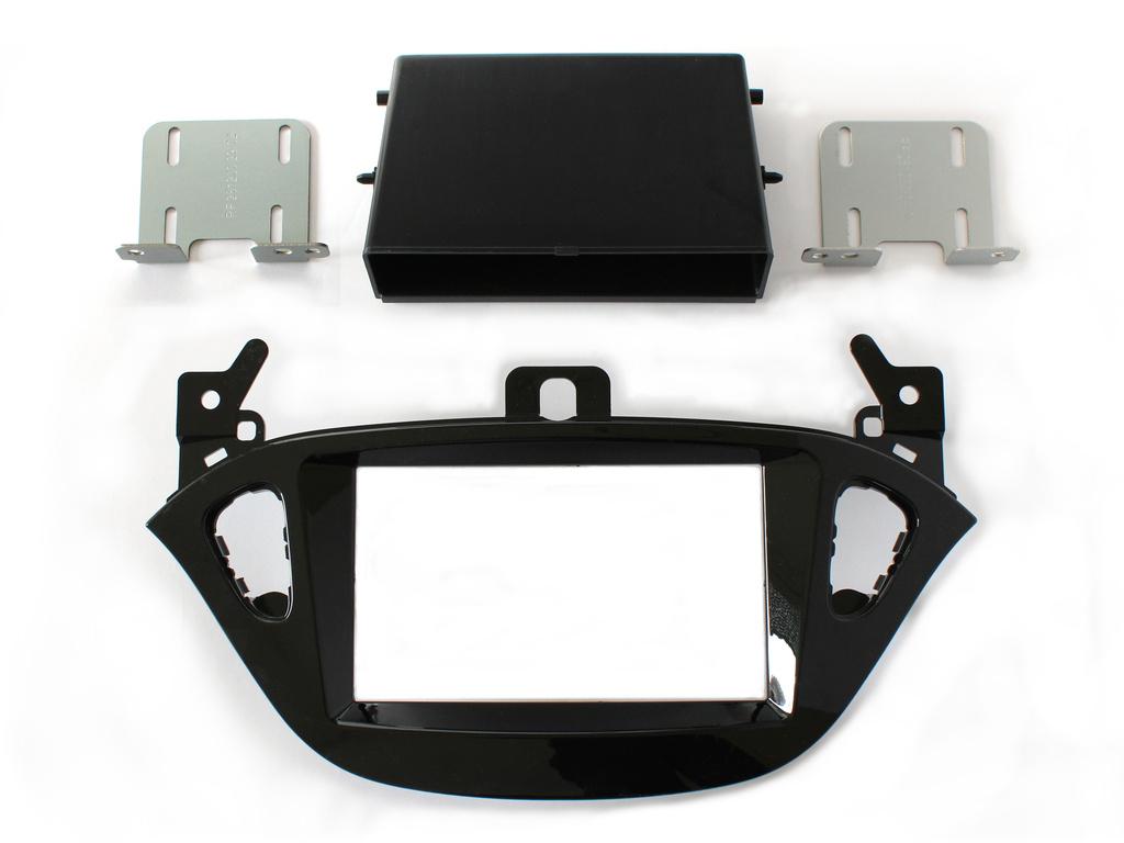 Autórádió keret 2 DIN Opel, fényes fekete CAR-BOX40.509