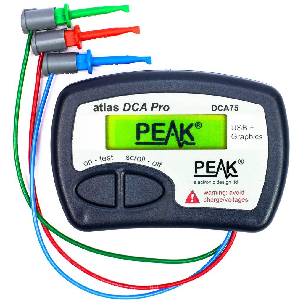Atlas DCA Pro minőségi félvezető teszter, jelleggörbe követéssel PC-n M.M PEAK DCA75
