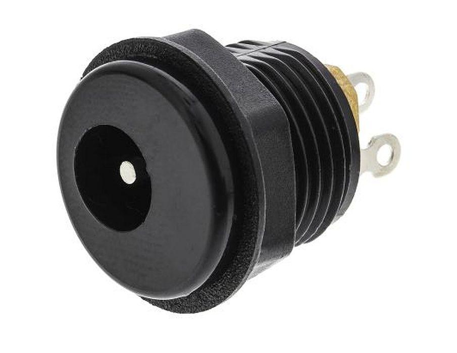 DC aljzat 2.1x5.5mm (csavaros) műanyag ház CSAT-P008/2.1L