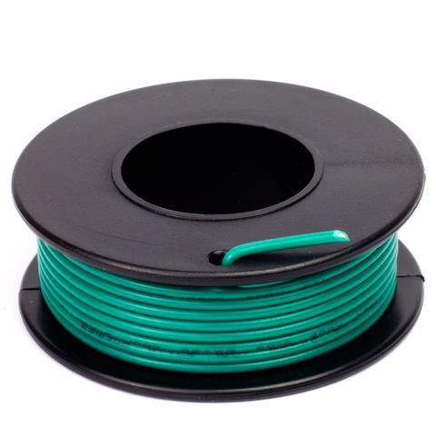 Zöld szigetelésű egy eres előónozott forrasztható vezeték 0.35x7.5m CABLE ROLL GREEN