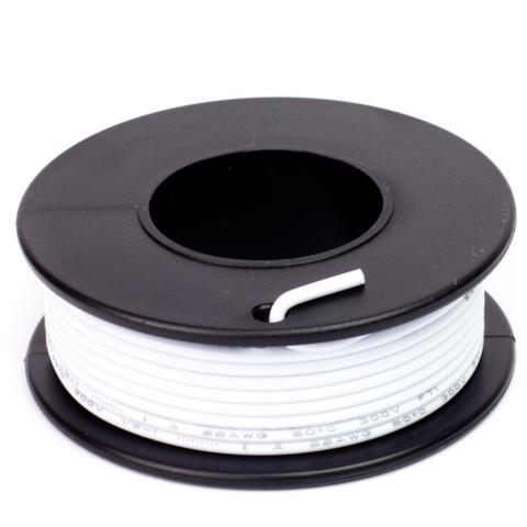 Fehér szigetelésű egy eres előónozott forrasztható vezeték 0.35x7.5m CABLE ROLL WHITE