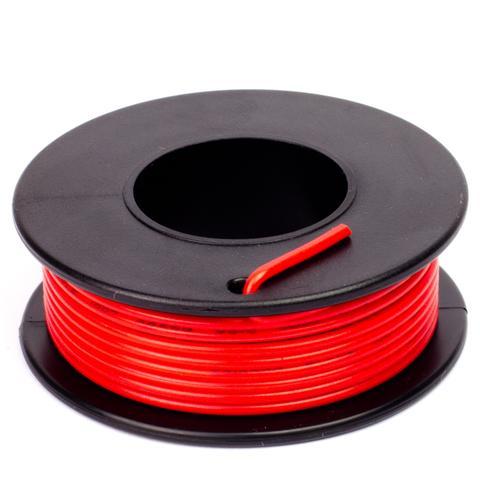 Piros szigetelésű egy eres előónozott forrasztható vezeték 0.35x7.5m CABLE ROLL RED