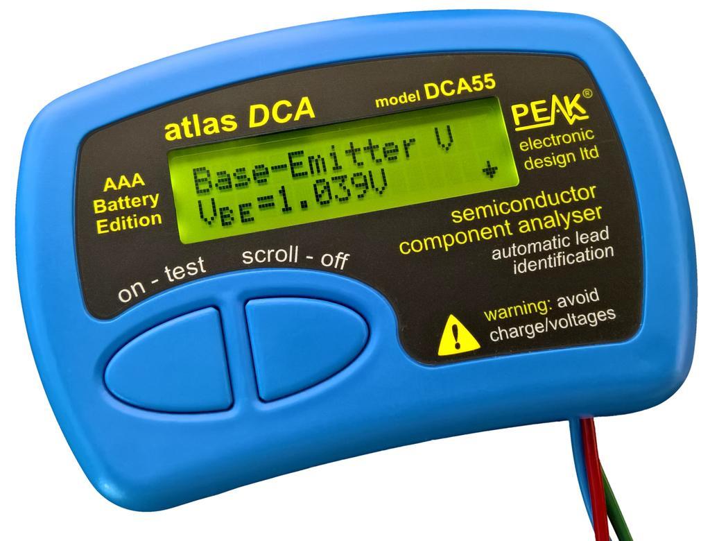 Atlas DCA - Félvezető mérő műszer M.M PEAK DCA55