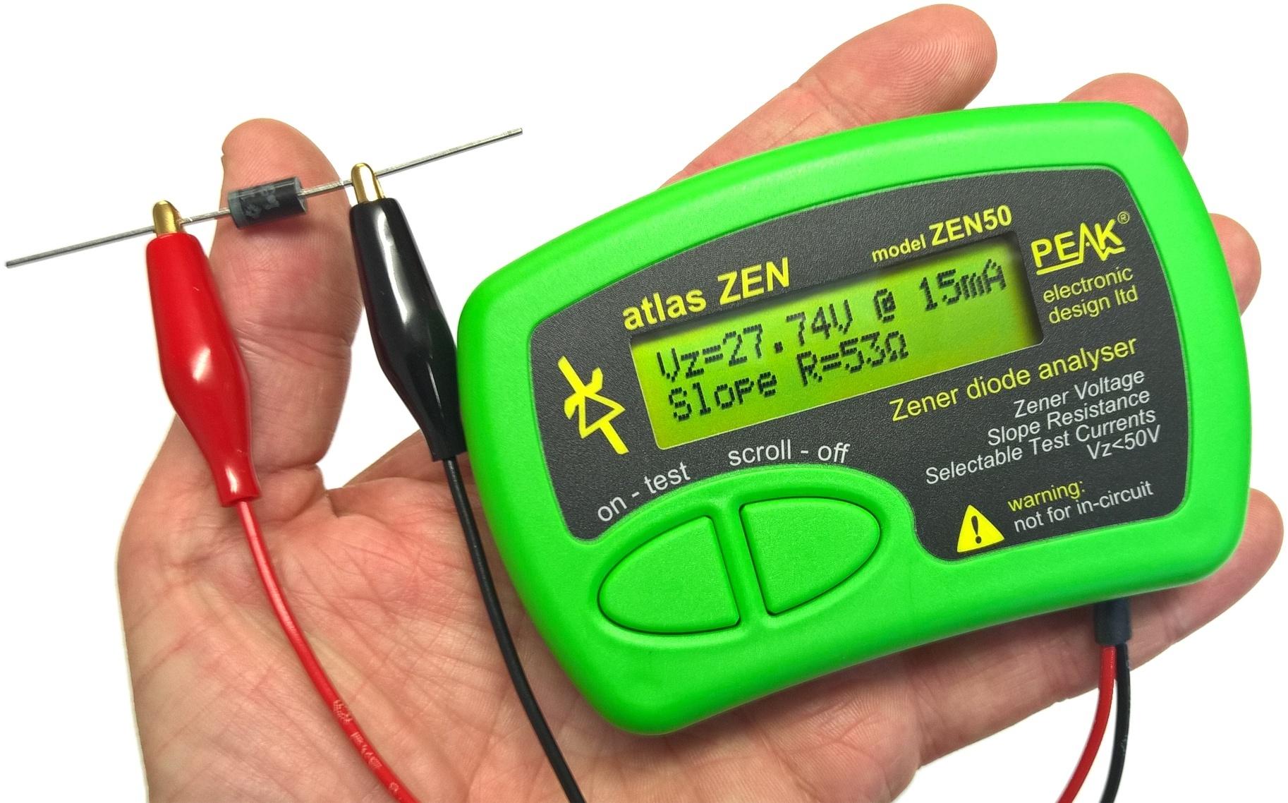 Atlas ZEN - Zener dioda mérő műszer (0-50V) M.M PEAK ZEN50