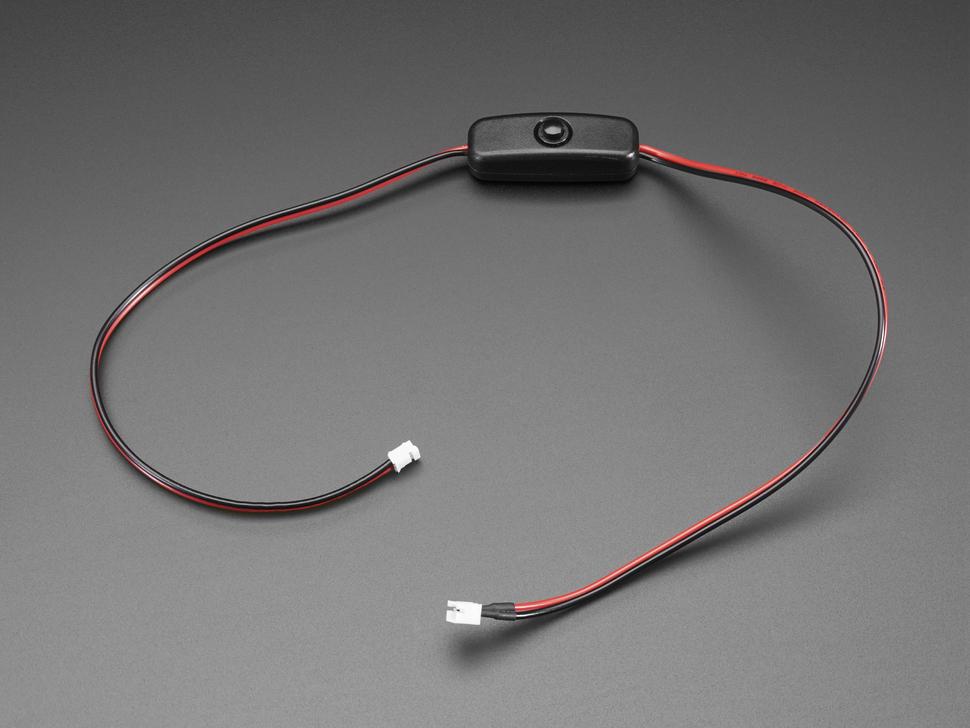 2 pólusú JST-PH csatlakozóval szerelt kapcsolós toldó kábel 50cm - dugó - aljzat Cable-PH02AB/SW