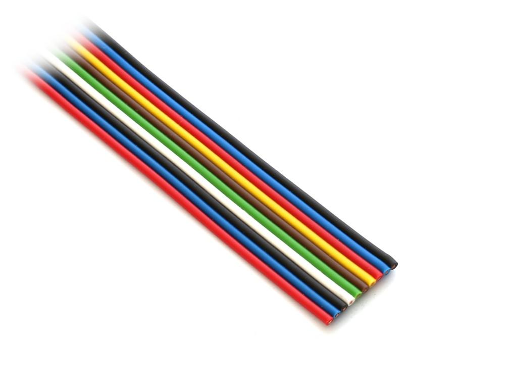 FLAT COLOR kábel 10p. 0.35mm2 CABLE FLAT10C03