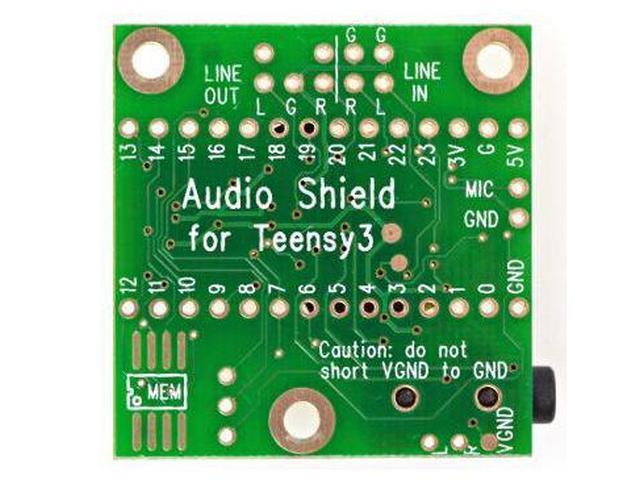Audio Adaptor Board for Teensy 3.0 - 3.6 KIT TEENSY3AUDIO -