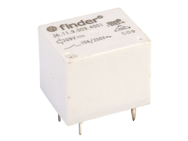 RELAY 1x250V 10A/15A 9VDC RELAY-361190094011