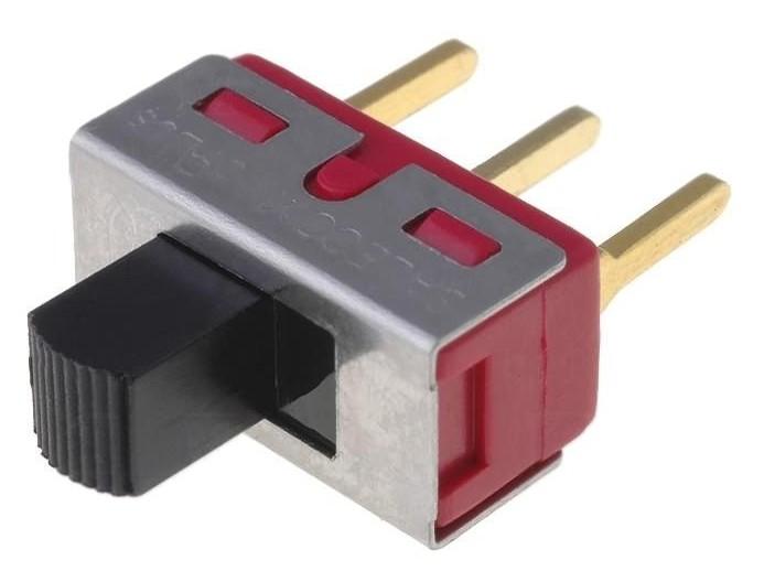Toló kapcsoló PCB 1x3p.12.7x6.6mm (1 áramkörös) SW18002P