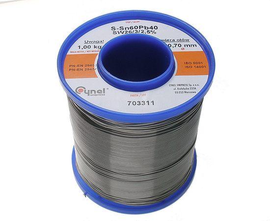 Forrasztó ón 0.7mm Sn60/Pb40% 1kg Flux 2.0% TIN 1000GR 0.7/2.5