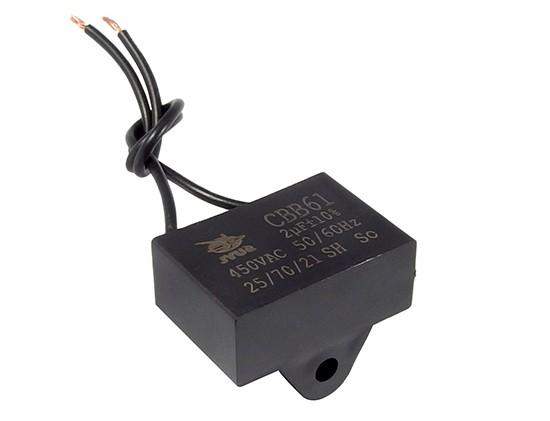 Szűrő kondenzátor 2uF 450VAC 38×27×14.5 (rögzítő füles) W0-C002/450 LR