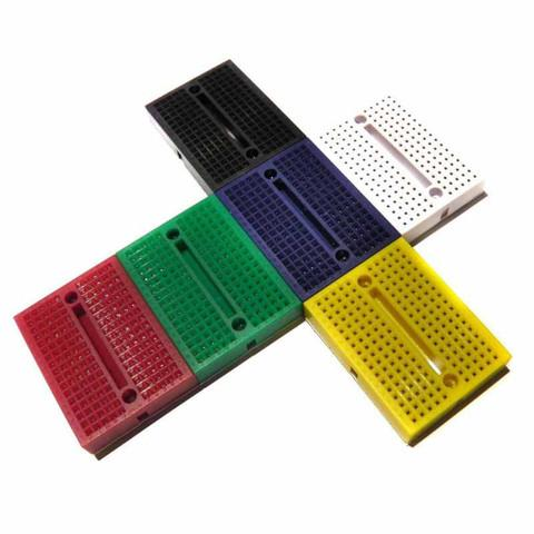 Próbapanel kit 6db színes sorolható 170 érintkezős, forrasztásmentes PP-Z6X170
