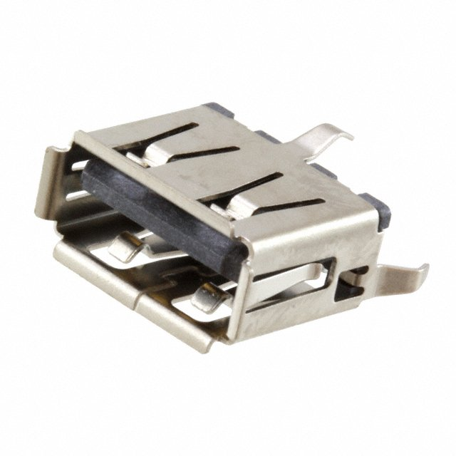 USB-A aljzat 4p. PCB Vert. (lábak 180°) CSAT-USB-A/1V-M