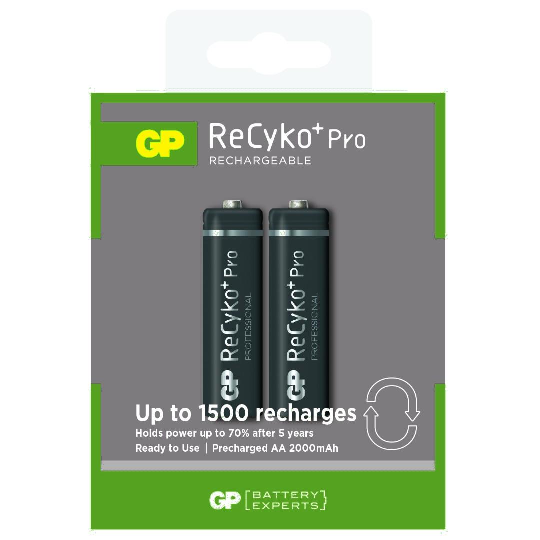 NI-MH 1.2V 2000mAh akkumulátor 2xAA ceruza, ReCyko Pro ACCU-R6 2100-2BR-P