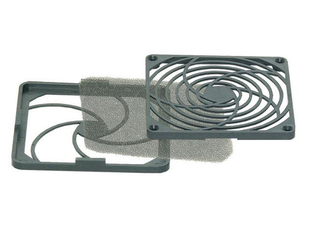 Műanyag rács szűrővel ventilátorhoz 30ppi 80x80mm CYP F-080/30