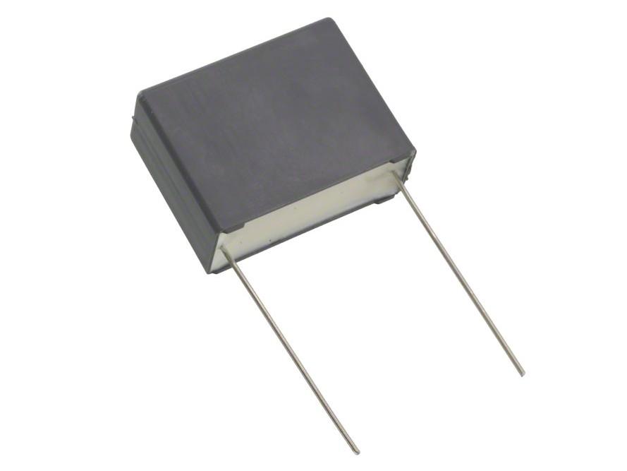 X2 kondenzátor 2.2uF 275VAC 10% L:27.5mm (láb ~25mm hosszú) C 2U2 AC275 X2H