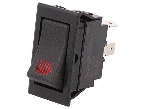 Billenő fekete 1x20A/12V 1 áramkörös ON-OFF (LÁMPA 12V kontroll) SW2109/R