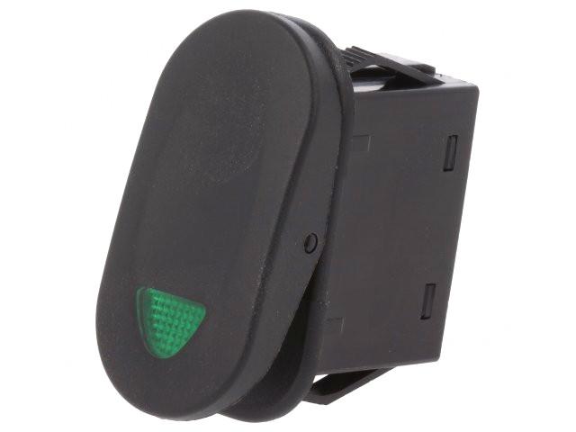 Billenő fekete 1x21A/14V 1 áramkörös ON-OFF (zöld LED kontroll) SW2111/G