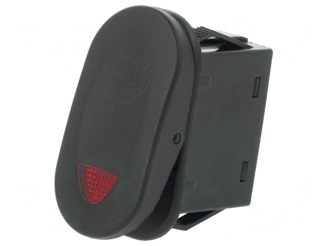 Billenő fekete 1x21A/14V 1 áramkörös ON-OFF (piros LED kontroll) SW2111/R
