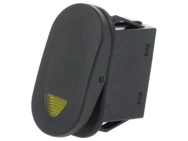 Billenő fekete 1x21A/14V 1 áramkörös ON-OFF (sárga LED kontroll) SW2111/Y