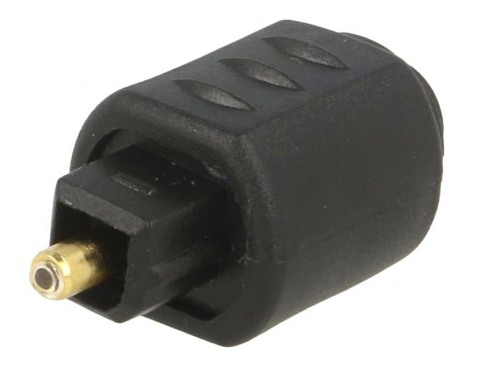 Optikai kábel toldó TOSLINK dugó-aljzat 3,5mm 180° AC-061
