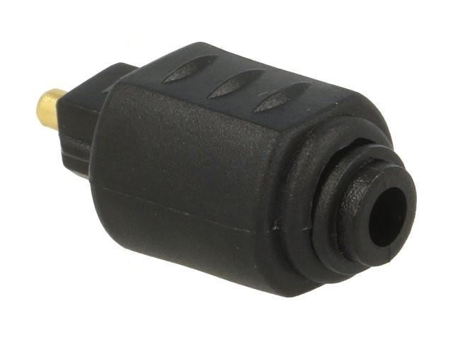 Optikai kábel toldó TOSLINK dugó-aljzat 3,5mm 180° AC-061 -