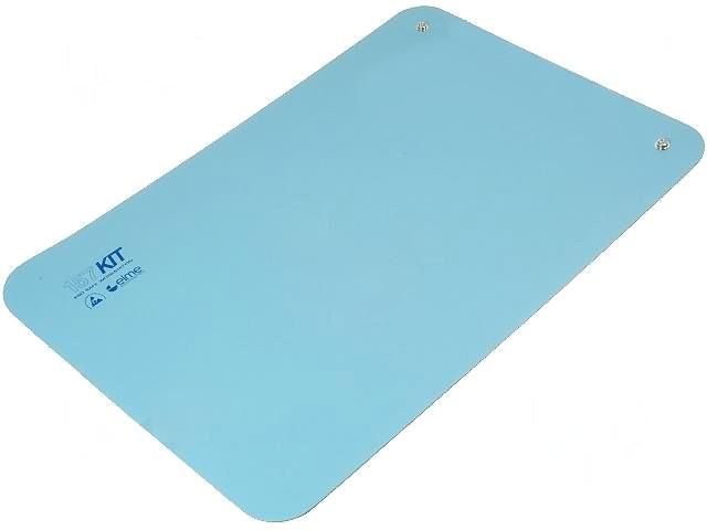 Antisztatikus asztalborítás, kék 60x40cm, 2db 10.3 patenttel szerelve AS-MAT-BLUE-6040