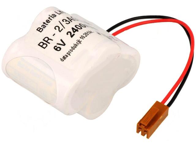 6V PLC Lítium elem 2400mAh, rendkívül hosszú élettartam BAT BR2/3AGCT4A