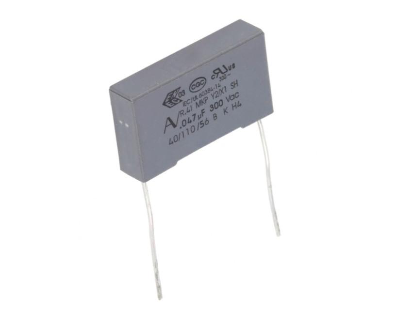 Y2 kondenzátor 47nF 300VAC ±20% RM-22,5 C 47N AC300 Y2 22.5