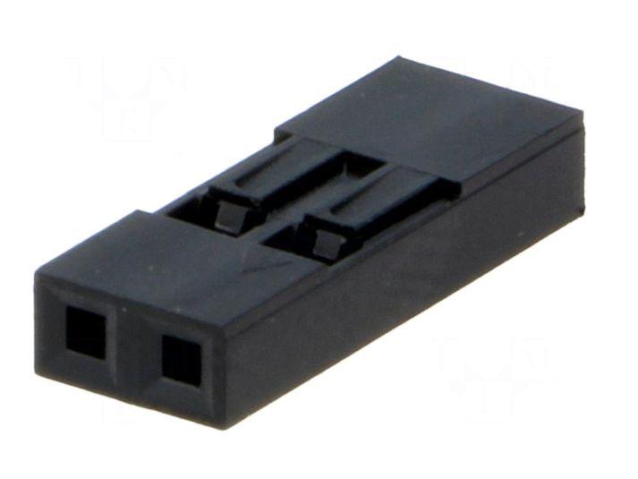 Egysoros csatlakozó ház 2p. táv. 2.54mm CSAT-10MS02/D