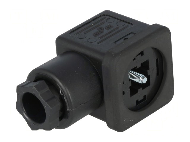 Szelep csatlakozó dugó, A forma 18mm, anya 4p. CSAT-SZ1210230341 -