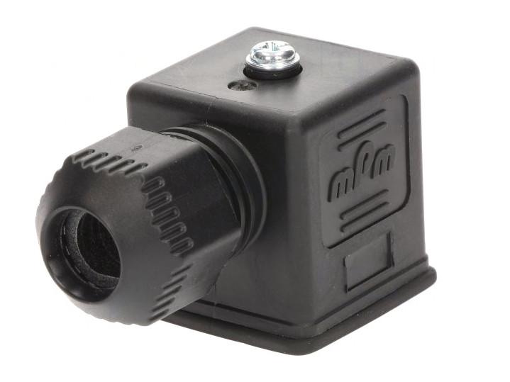 Szelep csatlakozó dugó, A forma 18mm, anya 3p. CSAT-SZ1212010034