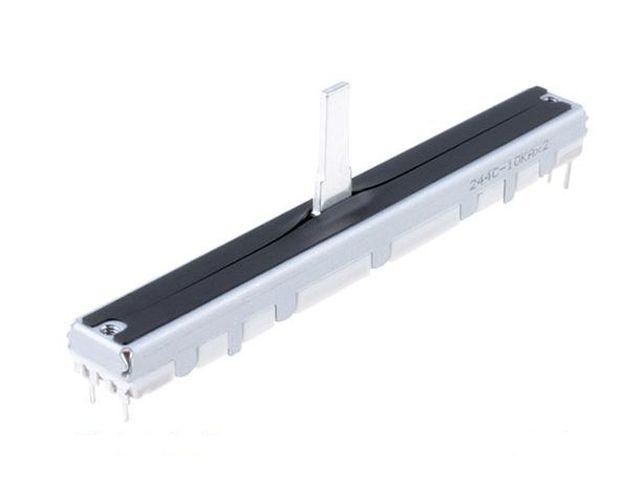 Toló potméter 2x10K, Log. tolópálya hossz: 67mm POT.T75/10KB