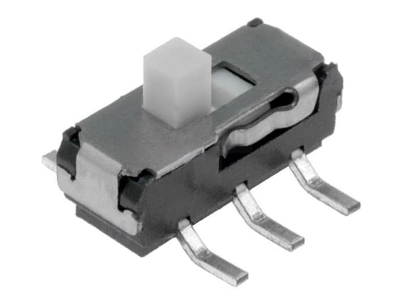 SMD toló mikrokapcsoló 2 poziciós ON-ON 9x3.5x3.5mm SW1000SP2/09-3