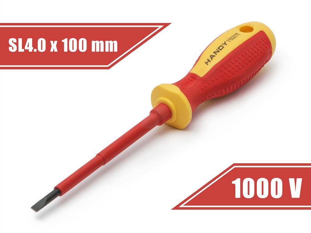 1000 V-ig szigetelt Lapos csavarhúzó P4/100 TOOL-0162