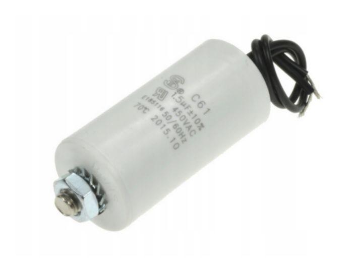 Szűrő kondenzátor 1.5uF 450VAC (vezetékes) W0-C0015/450 V