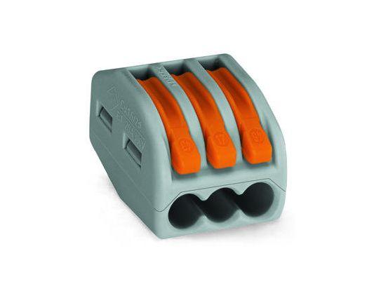Oldható vezetékösszekötő 3p. 0,08-2,5mm2 WAGO-222413