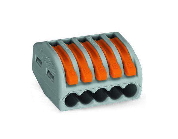 Oldható vezetékösszekötő 5p. 0,08-2,5mm2 WAGO-222415