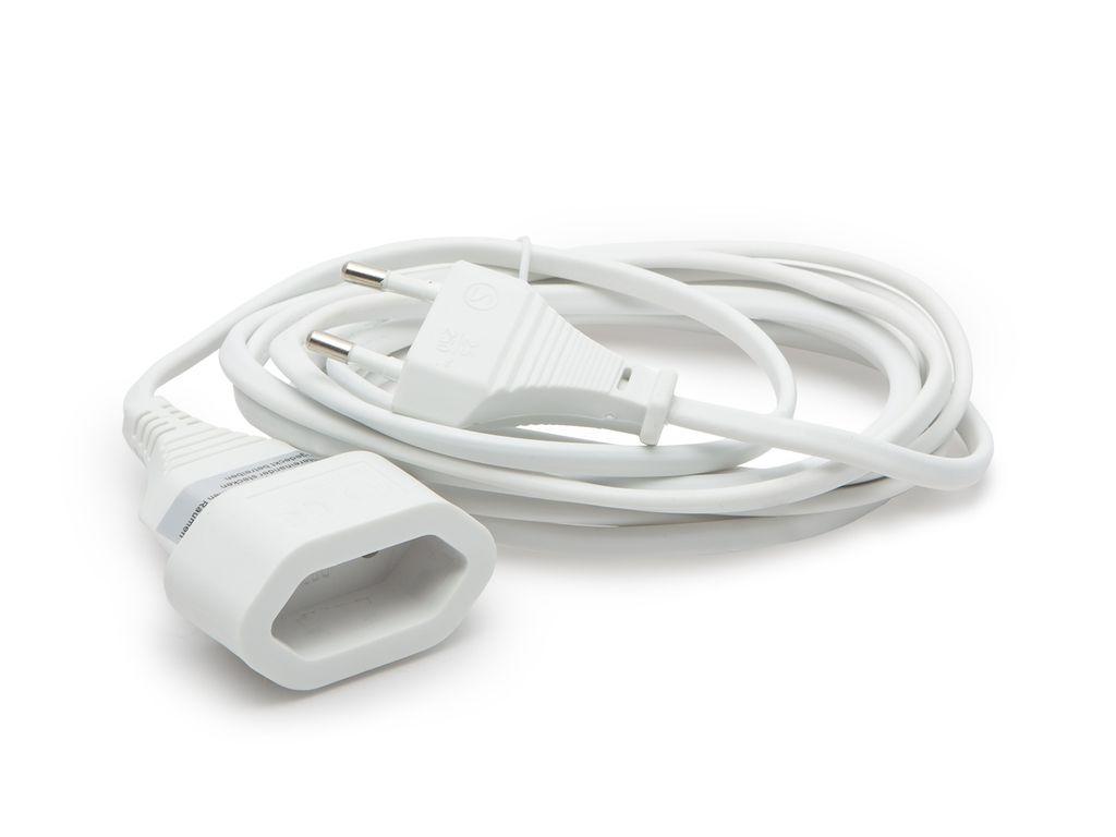 Hálózati kábel 3.0m EURO 2p hosszabbító dugó alj (fehér) CABLE-702