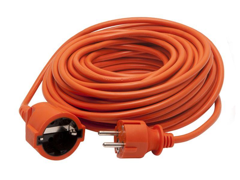 Lengő földelt hosszabbító, narancssárga, 20m, 250V 10A, IP20 CABLE-7520-1.0O