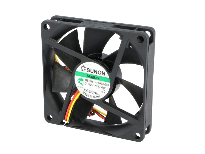 12V ventilátor 70x70x15 ME70151V1-G99 CY 7015/12-V1-G99
