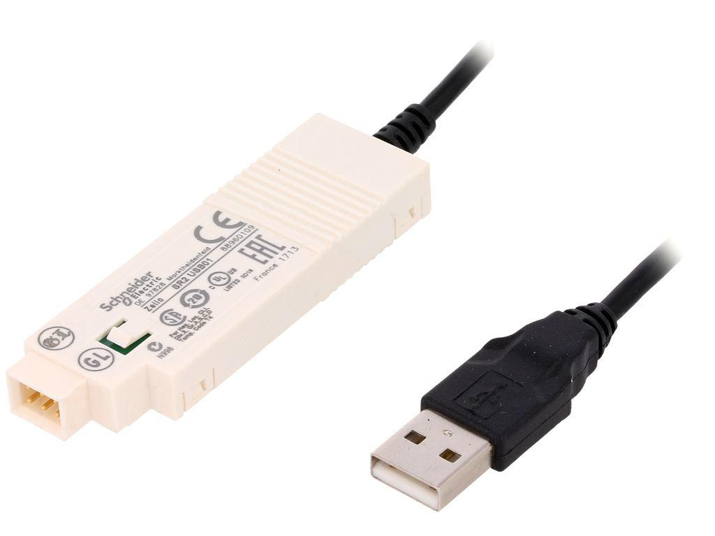 Schneider electronic Zelio Logic PLC kommunikációs kábel 3m PLC SR2USB01