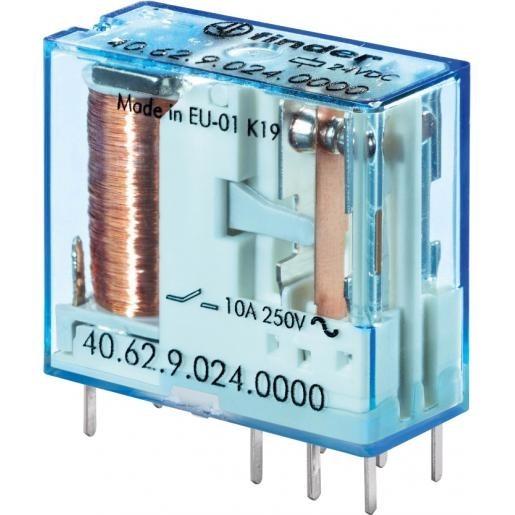 Relé 2x250V 10A/20A 24VDC RELAY-406290240000
