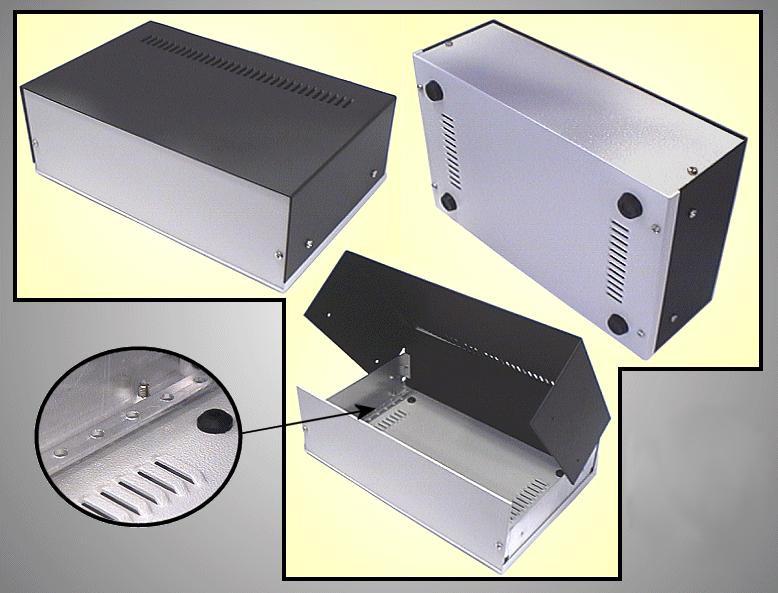 Alumínium műszerdoboz 150x150x60mm BOX M150/150/60
