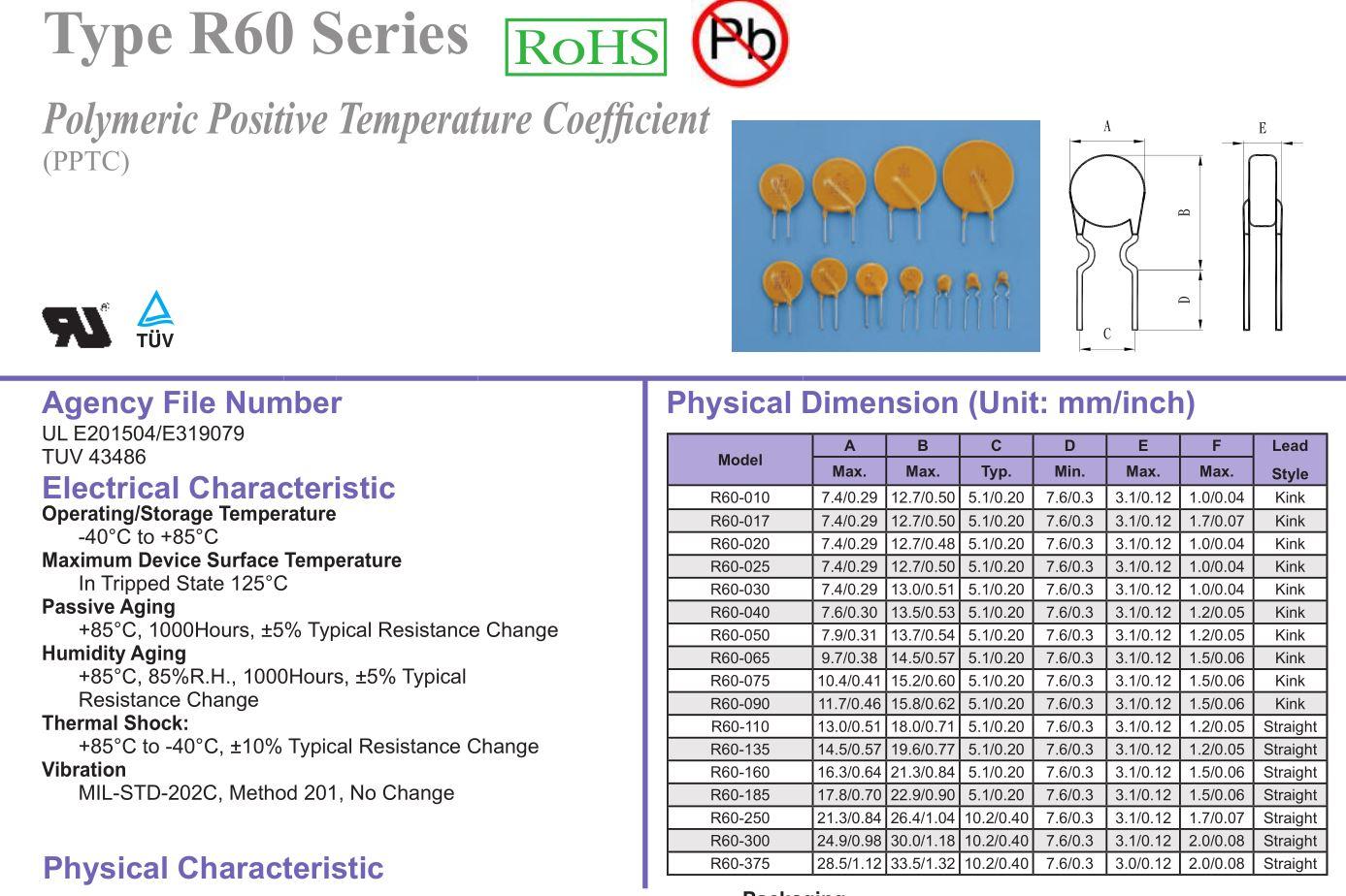 Öngyógyuló biztosíték 100mA 240V (multifuse,polimer) 240PF0.10 FUSE 0.100A/MF-240 -