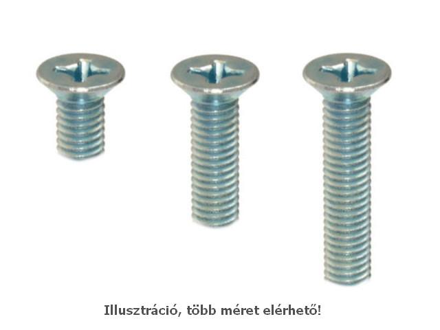 Acél csavar M3 x 4mm 0,5mm menet emelkedés, kúpos, Ph1 SCREW-M3.0X4.0K_PH1