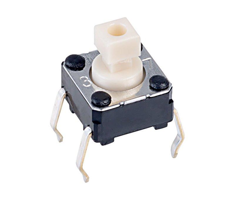 Mikrokapcsoló 6x6mm 4p. gomb:3mm (nyomó erő:100g) SW1006K4/030-100