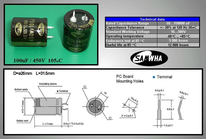ELKO 10000uF 63V 105°C 30x60 HE Snap-In 10000/63P-105 S 30x61